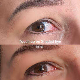 Picture of touch up on shaded eye liner